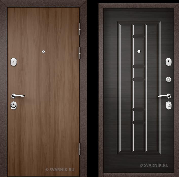 Дверь входная антивандальная в коттедж массив - шпон