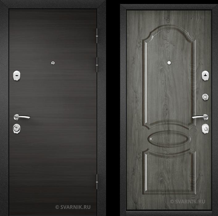 Дверь металлическая антивандальная в квартиру шпон - МДФ