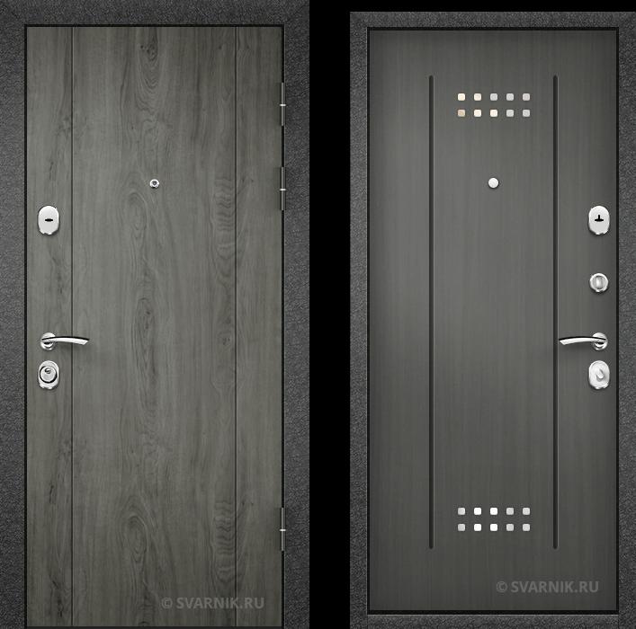 Дверь металлическая антивандальная уличная МДФ - массив
