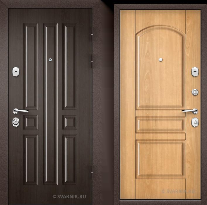 Дверь входная антивандальная уличная МДФ - шпон