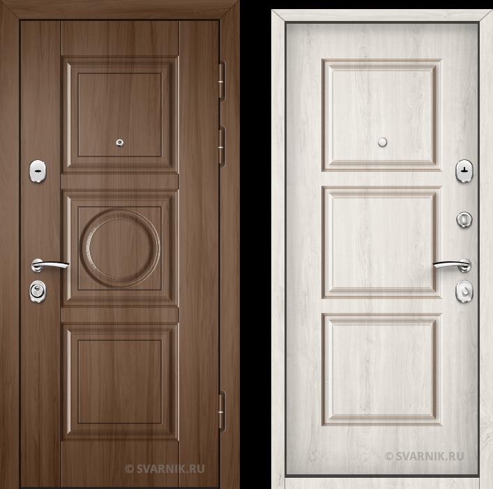 Дверь входная антивандальная в дом массив - МДФ