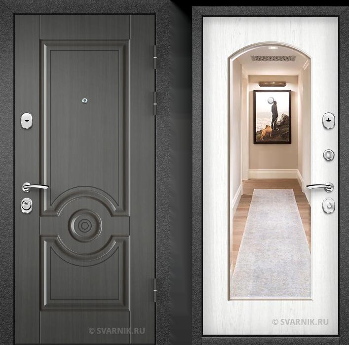 Дверь металлическая антивандальная на дачу шпон - винорит