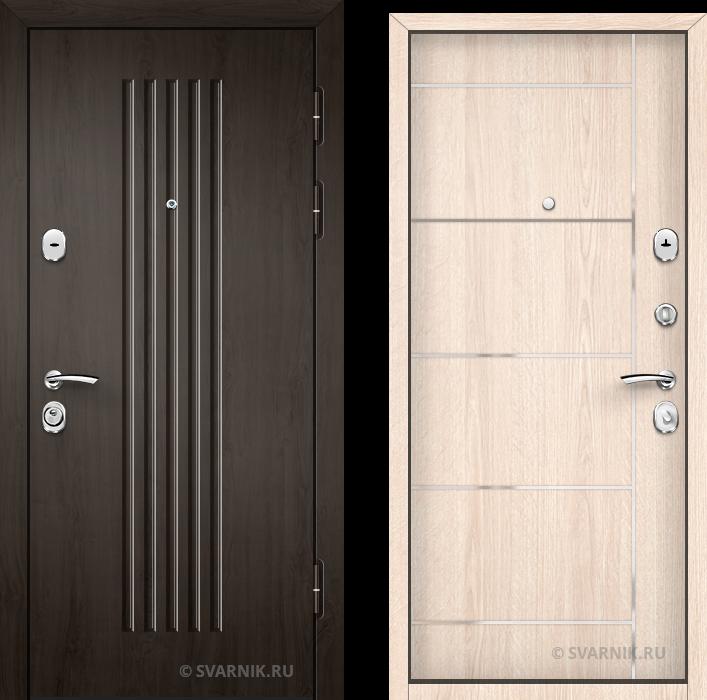 Дверь входная антивандальная в квартиру шпон - ламинат