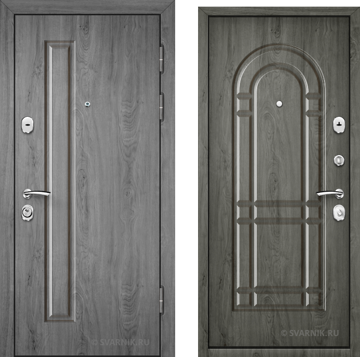 Дверь входная антивандальная на дачу МДФ - МДФ