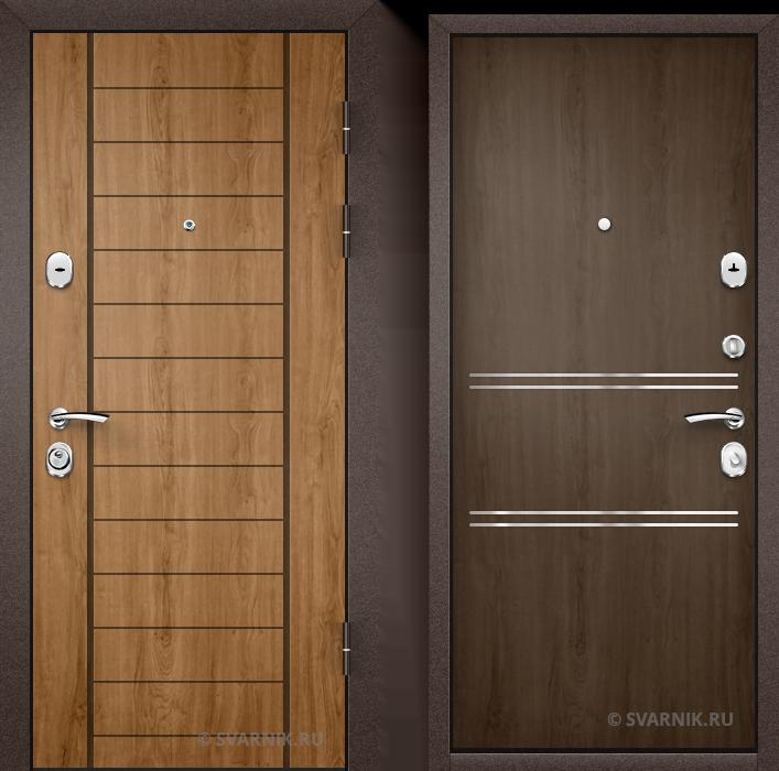 Дверь металлическая антивандальная в коттедж шпон - шпон
