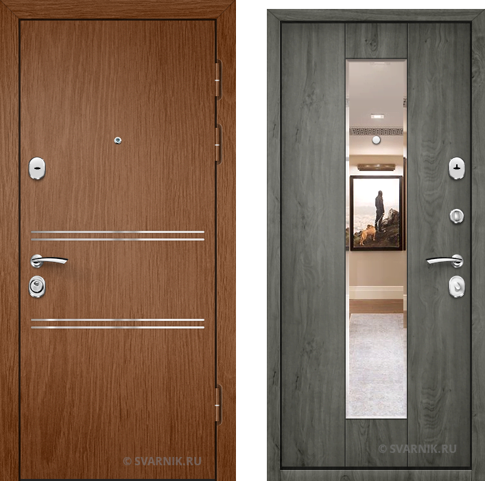 Дверь входная антивандальная в квартиру ламинат - массив