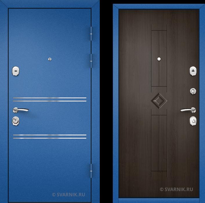 Дверь металлическая антивандальная в коттедж порошковая - массив