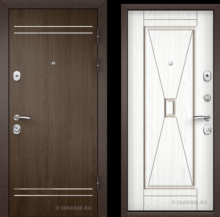 Дверь металлическая антивандальная в дом ламинат - МДФ