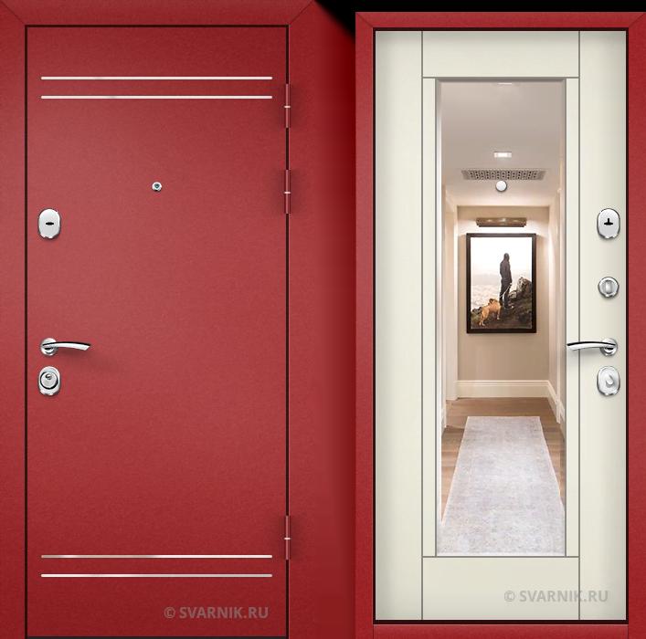 Дверь входная антивандальная в дом порошковая - МДФ