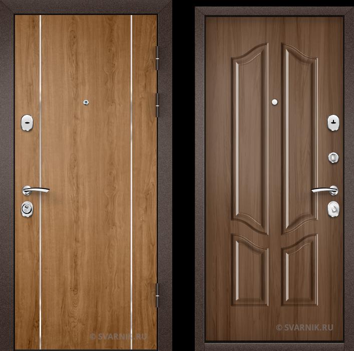 Дверь металлическая антивандальная в дом ламинат - винорит