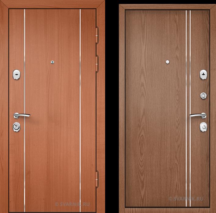Дверь входная антивандальная в коттедж ламинат - ламинат