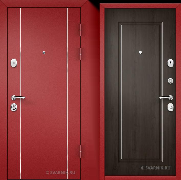 Дверь входная антивандальная на дачу порошковая - МДФ
