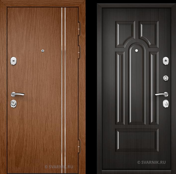 Дверь металлическая антивандальная в квартиру ламинат - винорит