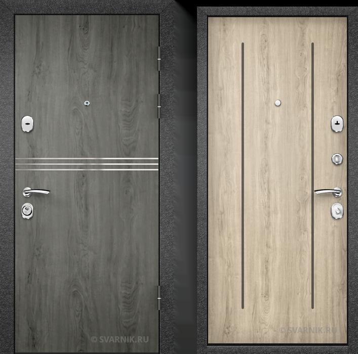 Дверь входная антивандальная в дом массив - винорит
