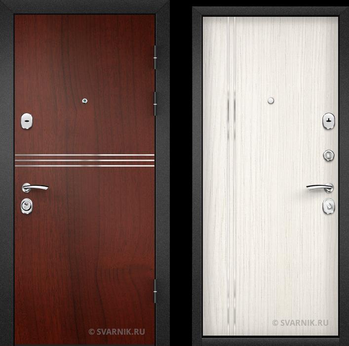 Дверь металлическая антивандальная в офис ламинат - винорит