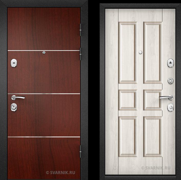 Дверь входная антивандальная в офис ламинат - массив
