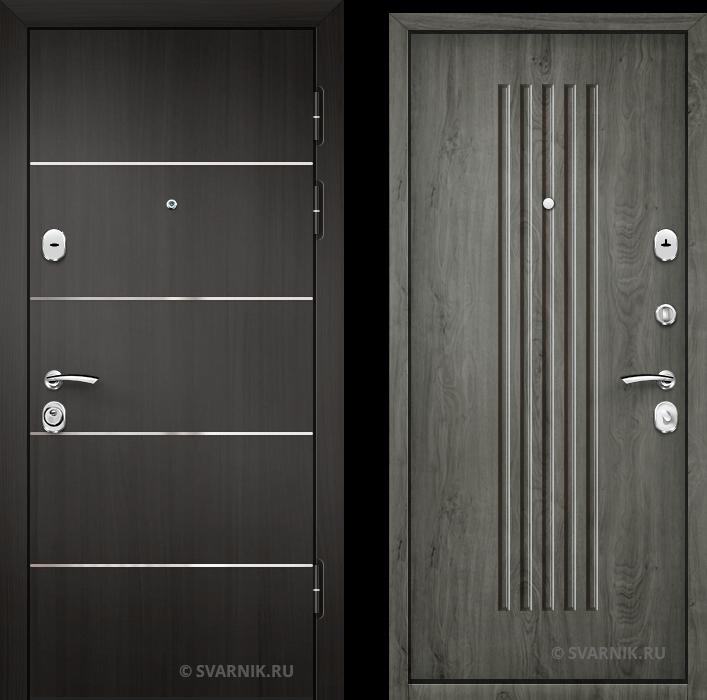 Дверь металлическая антивандальная на дачу ламинат - шпон