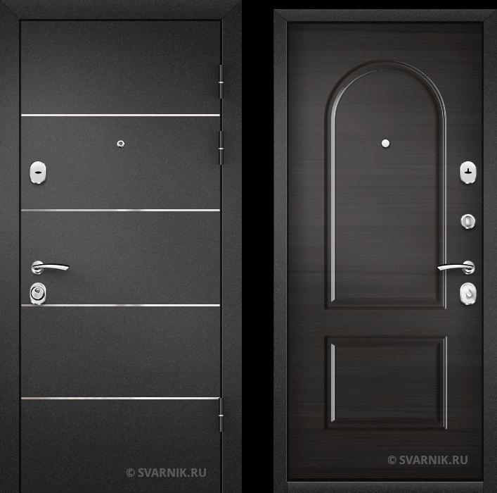 Дверь входная антивандальная в коттедж порошковая - винорит
