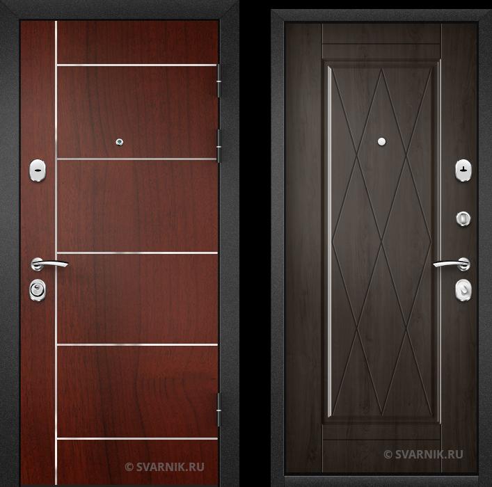 Дверь входная антивандальная в дом ламинат - массив
