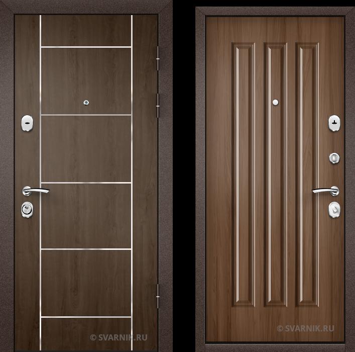 Дверь металлическая антивандальная на дачу ламинат - МДФ