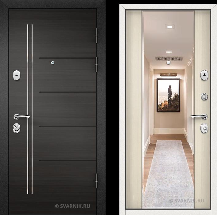 Дверь входная с зеркалом в квартиру МДФ - МДФ