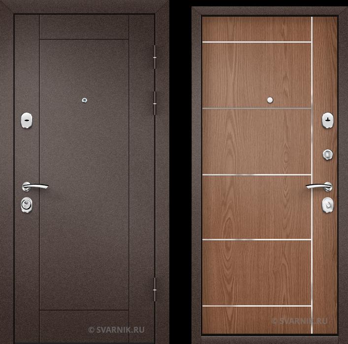 Дверь металлическая с терморазрывом в дом порошковая - ламинат