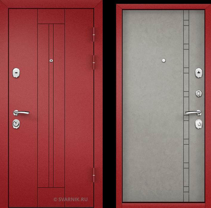 Дверь входная антивандальная на дачу порошковая - винорит