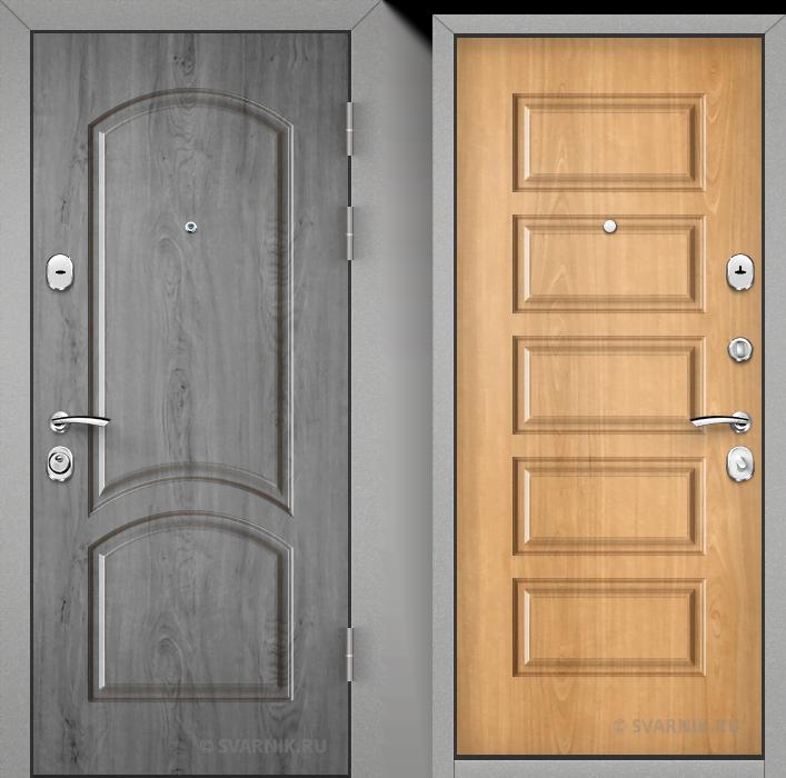 Дверь металлическая антивандальная на дачу массив - массив