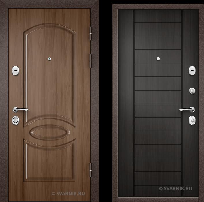 Дверь металлическая антивандальная в коттедж МДФ - массив