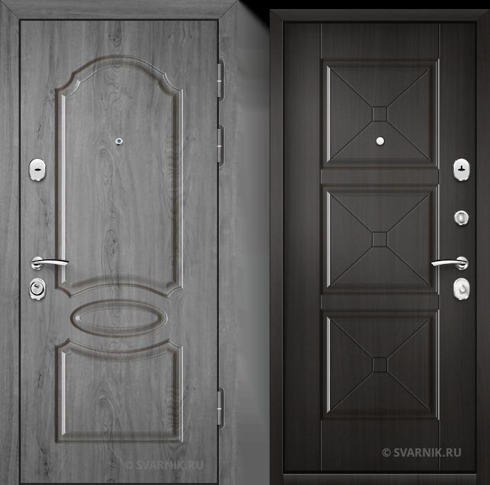 Дверь металлическая антивандальная в офис шпон - шпон