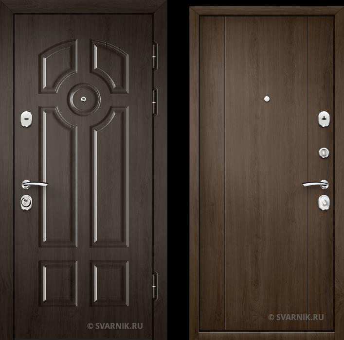Дверь металлическая антивандальная в коттедж винорит - МДФ