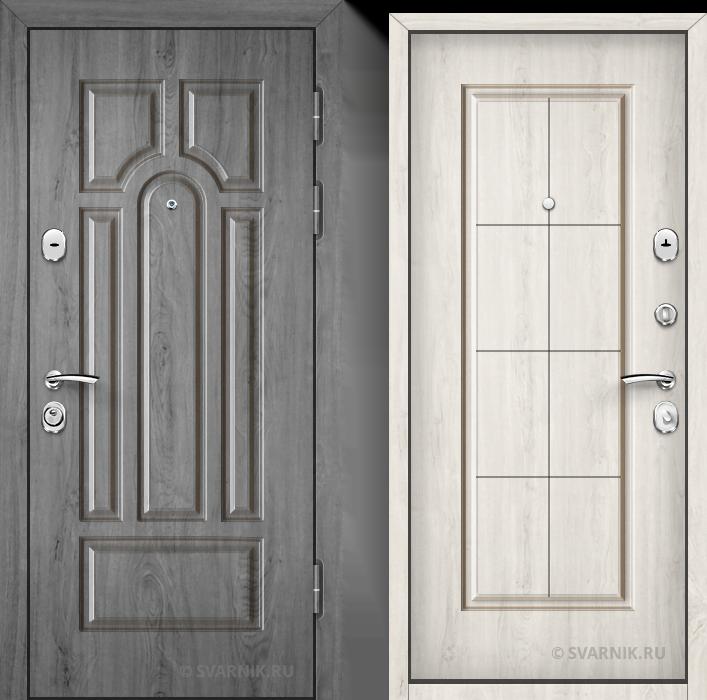 Дверь входная антивандальная на дачу шпон - массив