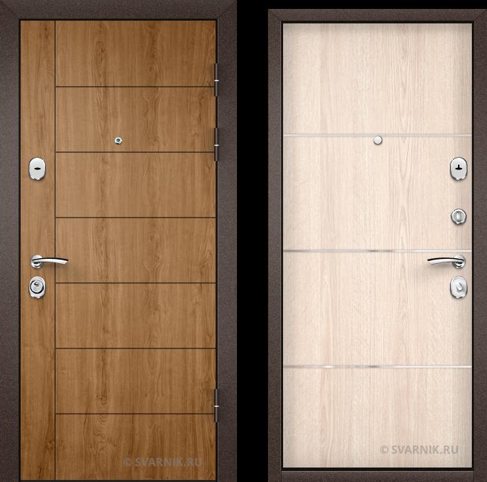 Дверь входная антивандальная на дачу винорит - ламинат