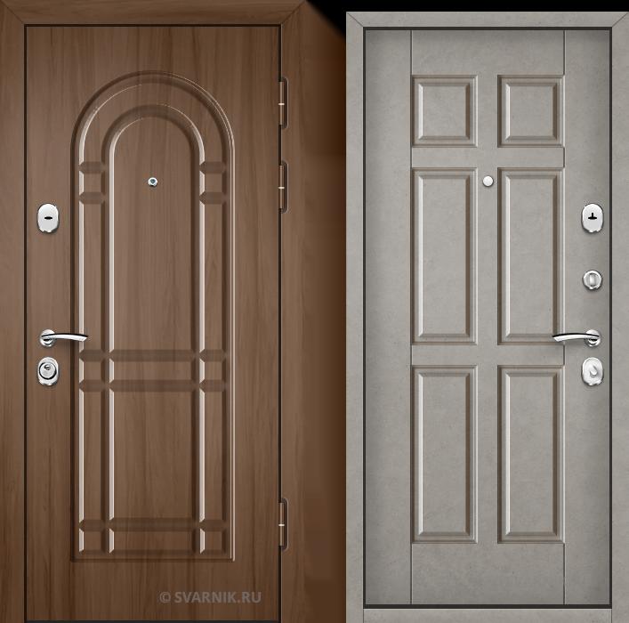 Дверь металлическая антивандальная на дачу винорит - шпон