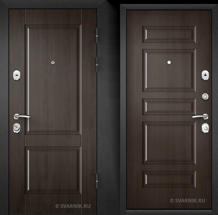 Дверь металлическая антивандальная в дом шпон - винорит