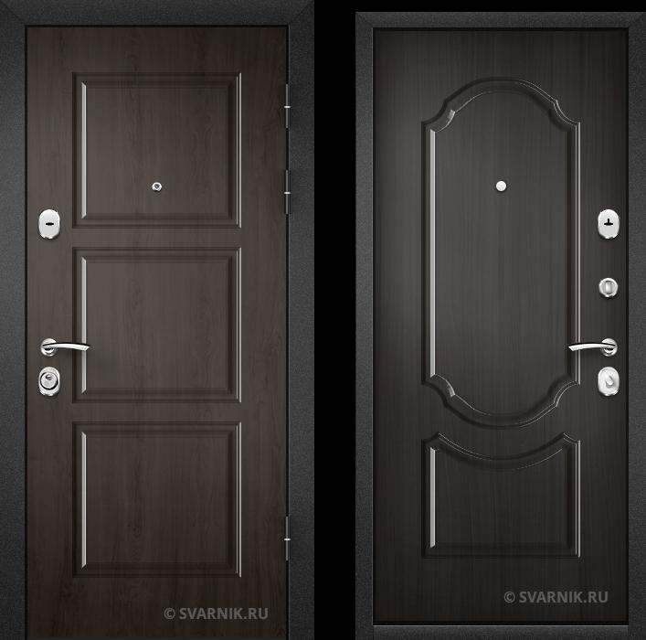 Дверь входная антивандальная в дом МДФ - шпон