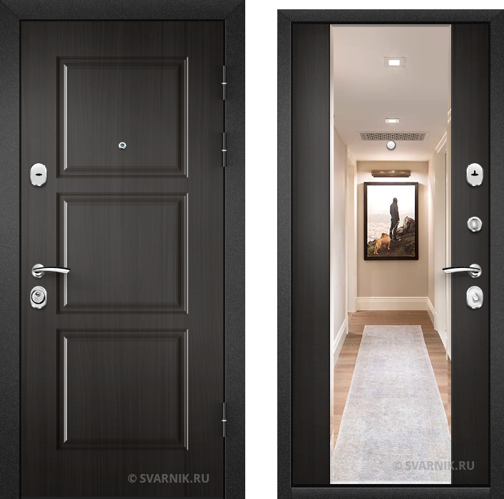 Дверь входная антивандальная в квартиру массив - винорит