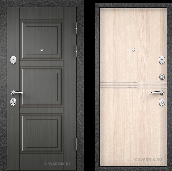 Дверь входная антивандальная в коттедж винорит - ламинат
