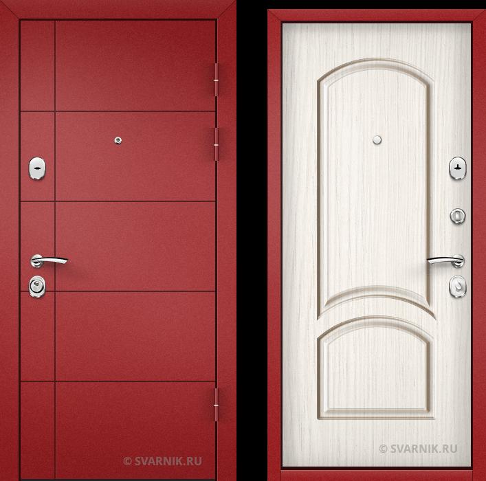 Дверь входная антивандальная в дом порошковая - винорит