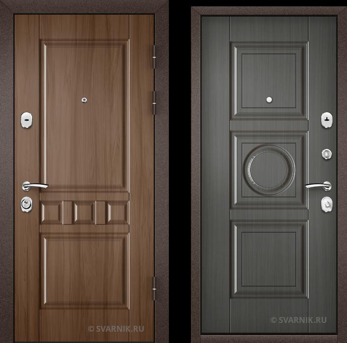Дверь металлическая антивандальная в квартиру шпон - шпон
