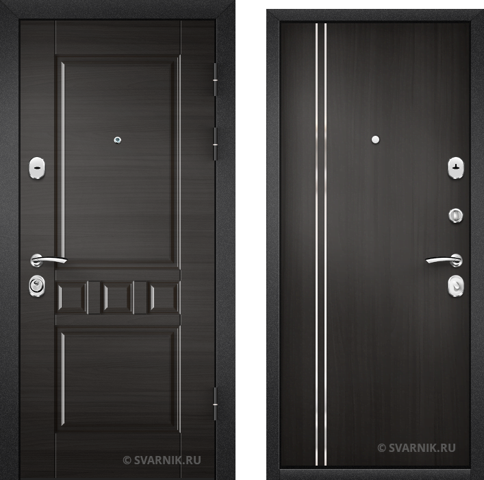 Дверь металлическая антивандальная в квартиру массив - ламинат