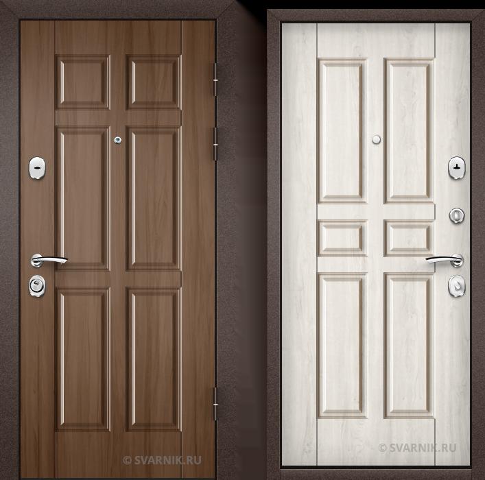 Дверь металлическая антивандальная в дом винорит - шпон