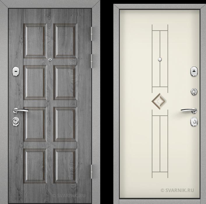 Дверь металлическая антивандальная в коттедж шпон - МДФ